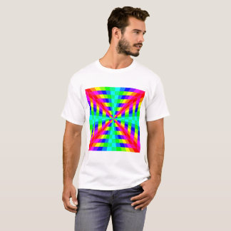 12 color rainbow square tunnel T-Shirt