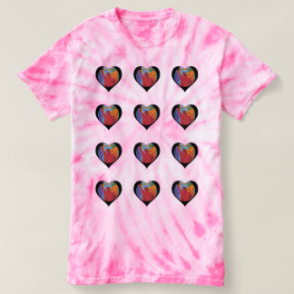12 Colorful hearts tie dye t-shirt