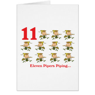 12 days eleven pipers piping card