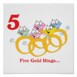 12 days five gold rings poster