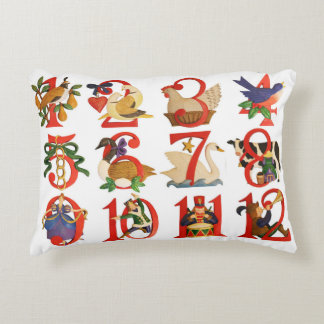"""12 Days of Christmas Accent Pillow 16"""" x 12"""""""