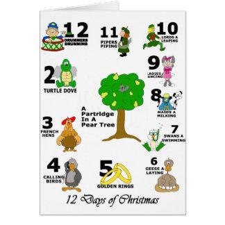 12 Days of Christmas Card