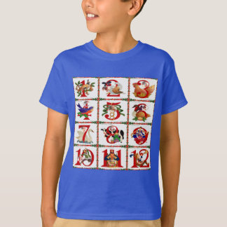 12 Days Of Christmas Quilt Print Gifts T-Shirt