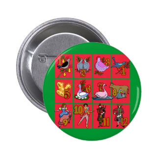 12 Days of Christmas T-shirts, Apparel, Gifts Pinback Button