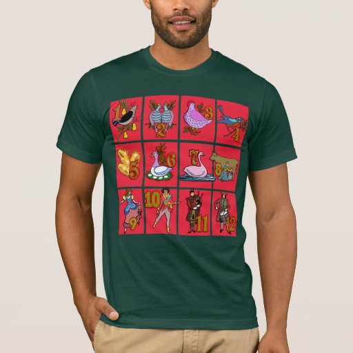 12 Days of Christmas T-shirts, Apparel, Gifts T-Shirt