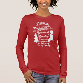 12 Days of Roller Derby Christmas, Roller Skating Long Sleeve T-Shirt