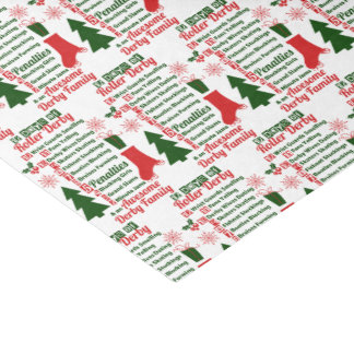 12 Days of Roller Derby Christmas Tissue Paper