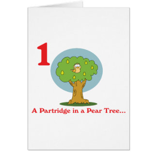 12 days partridge in a pear tree card