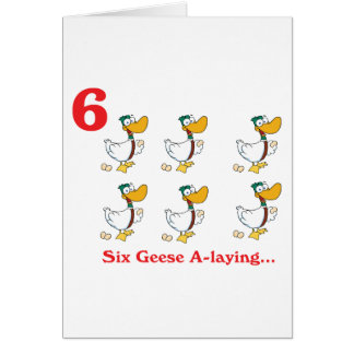 12 days six geese a-laying card