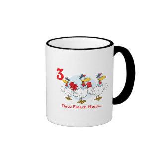 12 days three french hens mugs