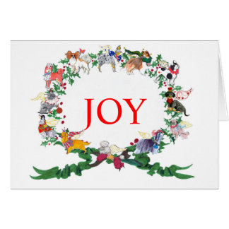 12 Dogs of Christmas Greeting Card, 2015 Version Card