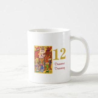 12 Drummers Drumming Cute Animals &Typography Coffee Mug