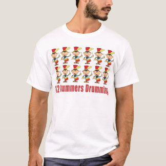 12 Drummers Drumming T-shirts