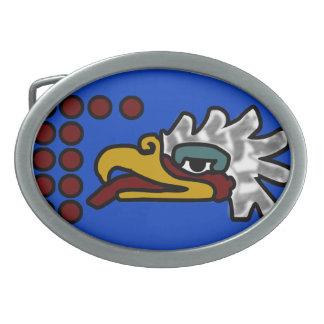 12 eagle aztec calendar belt buckle
