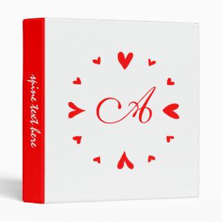 12 hearts 3 ring binders