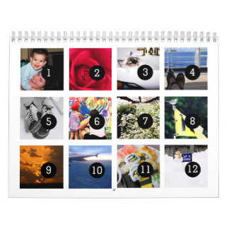 12 images to Make Your Own Photo Calendar on White