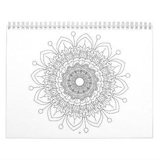 12 monate Beautiful mandala desing Calendar