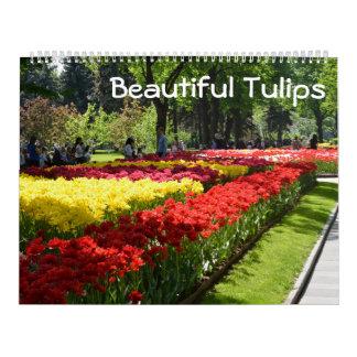 12 month Beautiful Tulips Wall Calendar