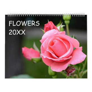12 month Floral Wall Calendars