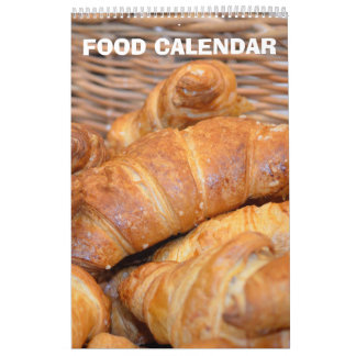 12 month Food Images collection Wall Calendar