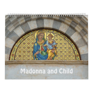 12 month Madonna and Child Wall Calendars