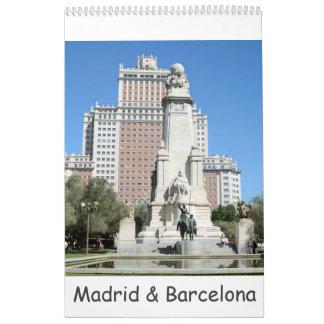 12 month Madrid & Barcelona Wall Calendars