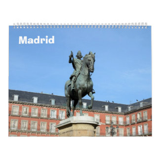 12 month Madrid wall Calendar