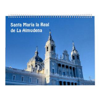 12 month Santa Maria la Real de La Almudena Calendar