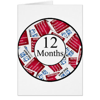 12 Months Firefighter Milestone Card