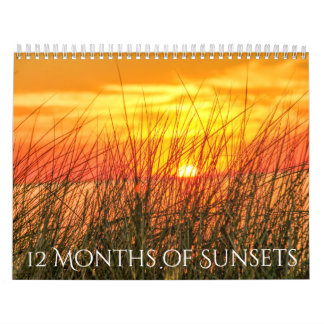 12 Months of Sunsets Calendar