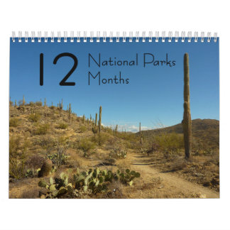 12 National Parks in 12 Months, 3rd Edition Calendar