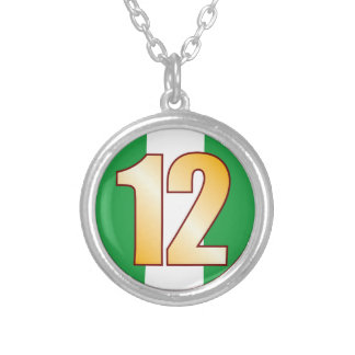 12 NIGERIA Gold Silver Plated Necklace