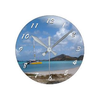12 Number Choices to Choose-Antigua Beach-Clock Clock