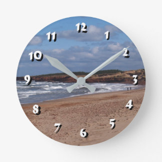 12 Number Choices to Choose -Beach and Waves-Clock Round Clock