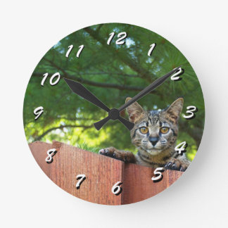 12 Number Choices to Choose --Cat Clock