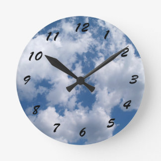 12 Number Choices to Choose --Cloudy Sky Clock