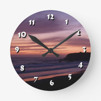 12 Number Choices to Choose-Colorful Sunset-Clock Round Clock