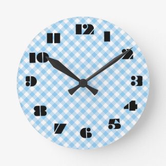 12 Number Choices to Choose From Blue Clock