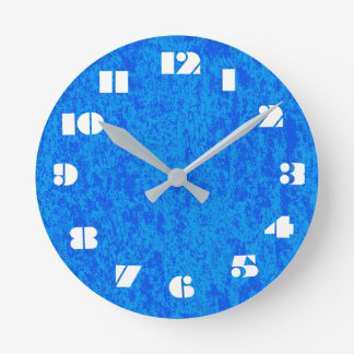 12 Number Choices to Choose From Blue Marble Clock