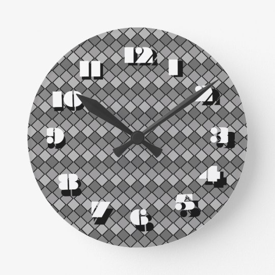 12 Number Choices to Choose From Grey Clock