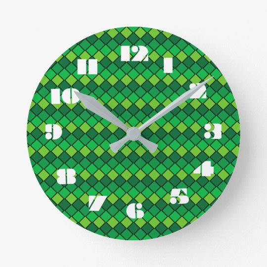 12 Number Choices to Choose From Grn Check Clock