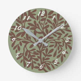 12 Number Choices to Choose From Grn n Brn Clock