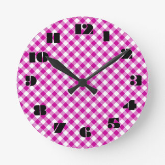 12 Number Choices to Choose From Hot Pink Clock
