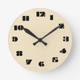 12 Number Choices to Choose From Light Ecru Clock