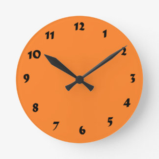 12 Number Choices to Choose From Orange Clock