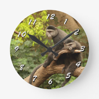 12 Number Choices to Choose --Monkeys Clock