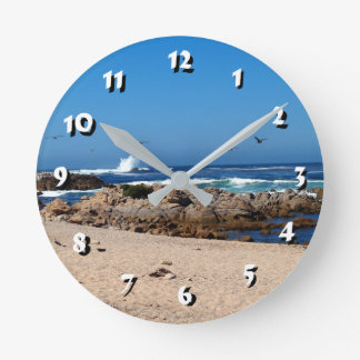 12 Number Choices to Choose -Ocean Waves-Clock Round Clock