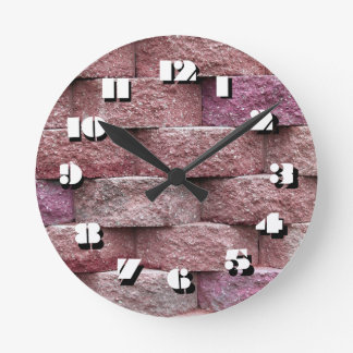 12 Number Choices to Choose-Pink Stone-Clock Round Clock