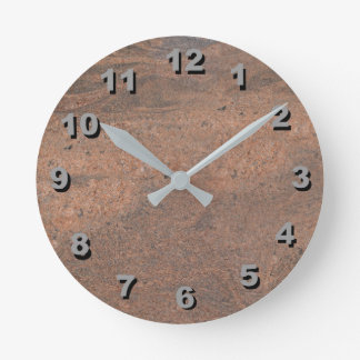 12 Number Choices to Choose-Salmon Pk Marble Clock