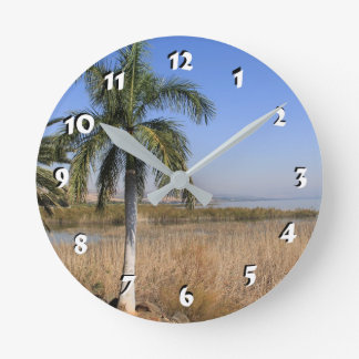 12 Number Choices to Choose --Sea of Galilee Round Clock